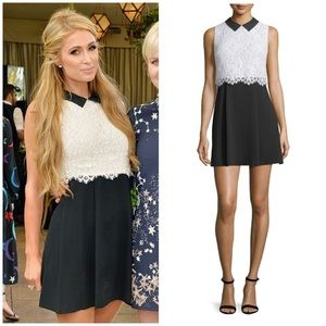 "Alice + Olivia ""Desra"" lace collared dress 4"